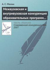 Межвузовская и внутривузовская конкуренция образовательных программ высшего профессионального образования